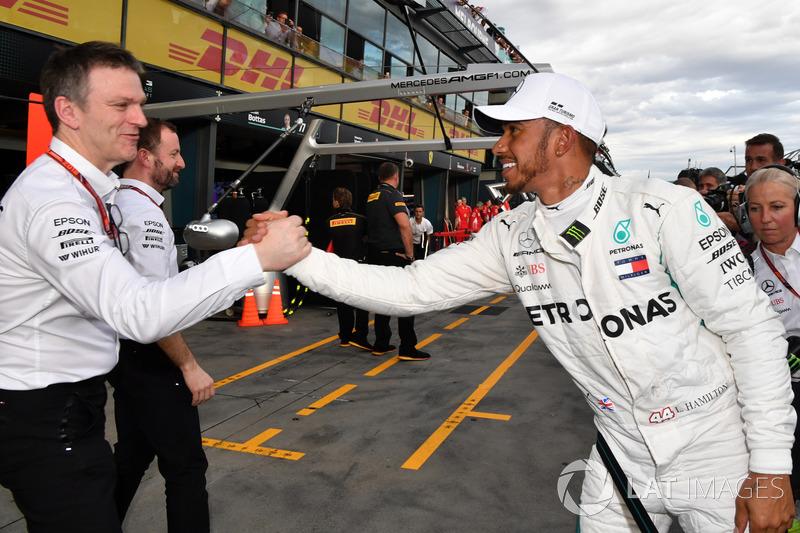 Pole pozisyonu galibi Lewis Hamilton, Mercedes-AMG F1, James Allison, Mercedes AMG F1 Teknik direktörü