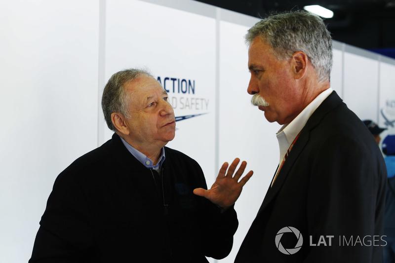 Jean Todt, presidente de la FIA y Chase Carey, presidente de la Fórmula Uno