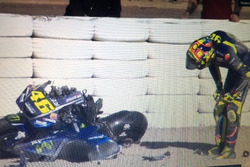 L'incidente di Valentino Rossi, Yamaha, ai Test di Valencia