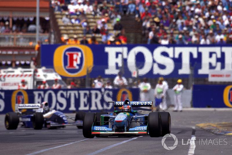 Michael Schumacher en Damon Hill
