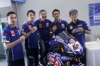 Pembalap Yamaha Racing Indonesia dan Presiden Direktur PT Yamaha Indonesia Motor Manufacturing (YIMM), Minoru Morimoto