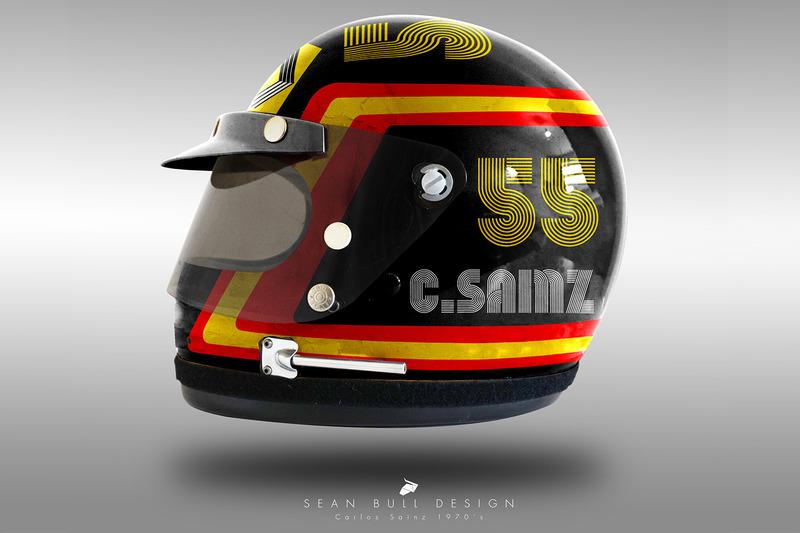 Casco concepto 1970 de Carlos Sainz Jr.