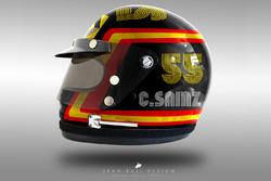 Carlos Sainz Jr. 1970's helmet concept