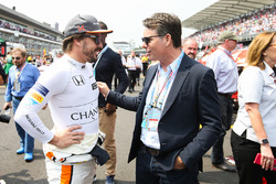 Fernando Alonso, McLaren, mit Jeff Gordon