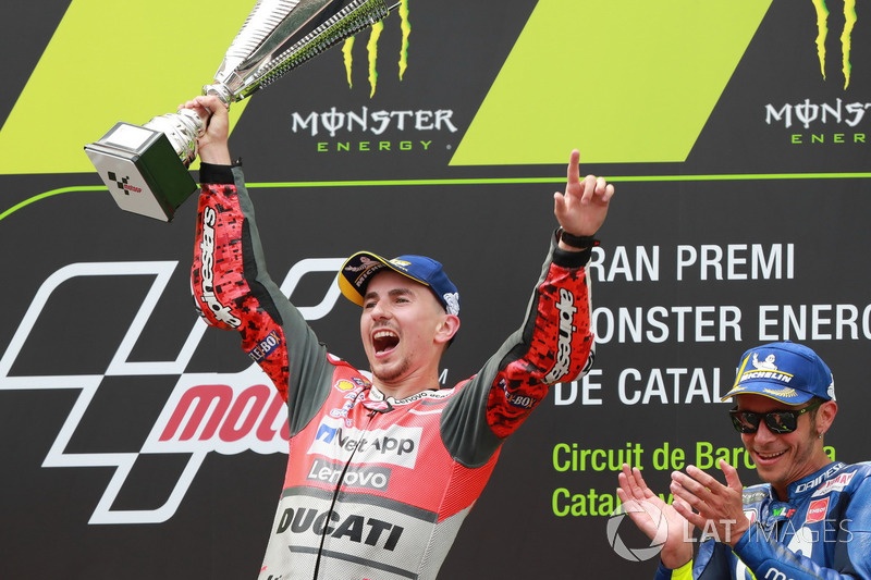 Podium: Jorge Lorenzo, Ducati Team