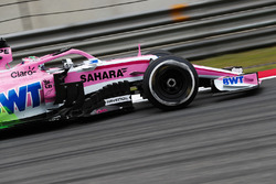 Flow-Via paint on the car of Sergio Perez, Force India VJM11 Mercedes