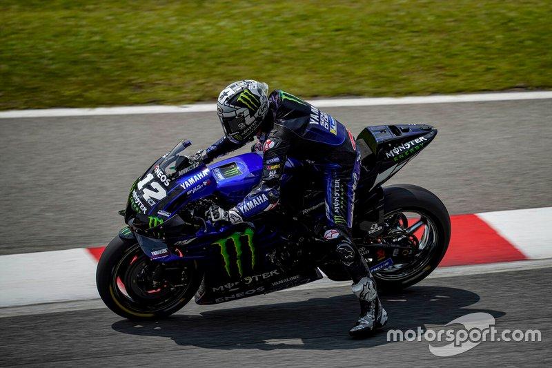 Maverick Vinales, Yamaha Factory Racing, con la M1 dotata del cupolino maggiorato