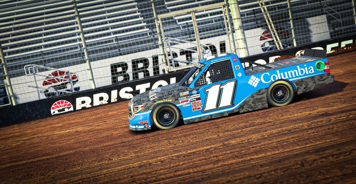Bubba Wallace, No. 11 Columbia Sportswear Spencer Davis Motorsport Toyota Tundra