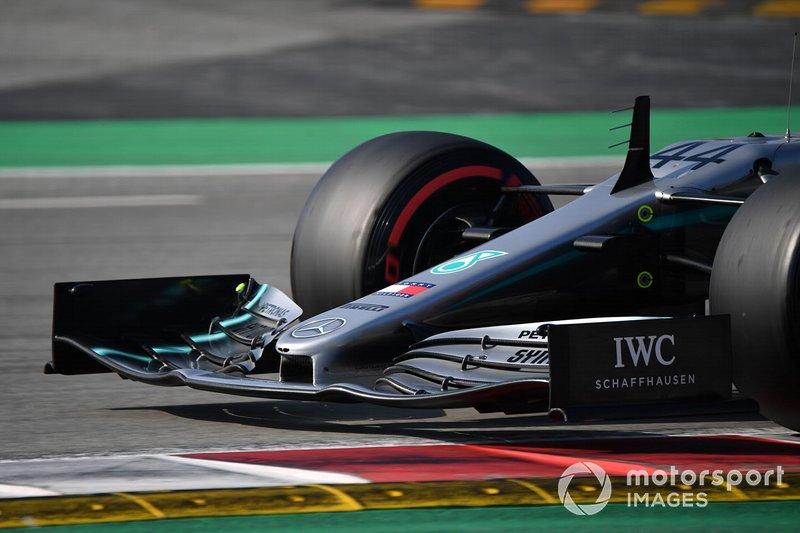 Morro y alerón del Mercedes-AMG F1 W10
