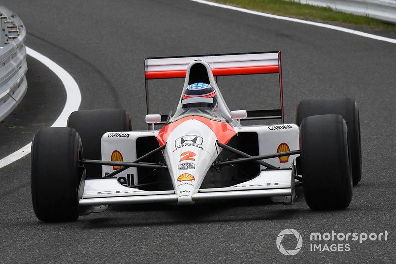 Mclaren Honda MP4/6 di segmen Perayaan Legenda F1 ke 30