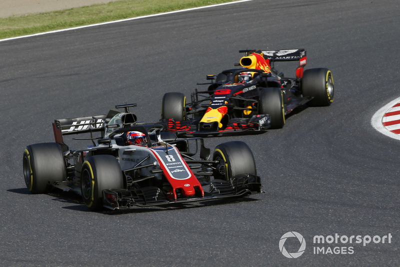 Ромен Грожан, Haas F1 Team VF-18, Даніель Ріккардо, Red Bull Racing RB14
