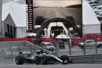 Lewis Hamilton, Mercedes-AMG F1 W09 EQ Power+ on track and on screen
