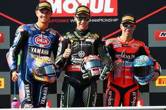 Jonathan Rea, Kawasaki Racing, Michael van der Mark, Pata Yamaha, Marco Melandri, Aruba.it Racing-Ducati SBK Team