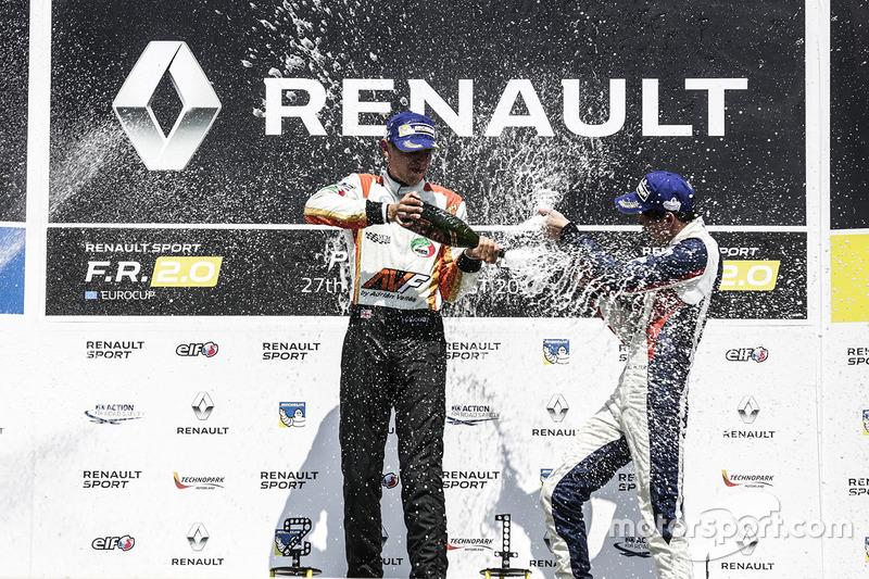 Podium: winner Harrison Scott, AVF by Adrian Valles, third place Will Palmer, R-ace GP