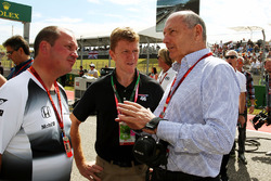 Ron Dennis, McLaren Executive Chairman on the grid with Tim Peake, Astronaut (Centre) on the grid