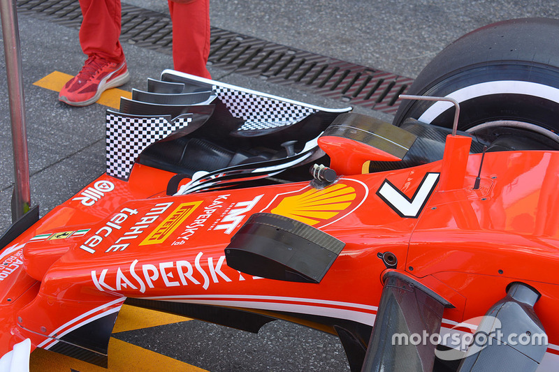 Ferrari SF16-H front nose detail