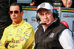 Helio Castroneves, Team Penske Chevrolet and Roger Penske