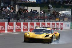 #63 Corvette Racing-GM Chevrolet Corvette C7.R: Jan Magnussen, Antonio Garcia, Jordan Taylor finishes with damage