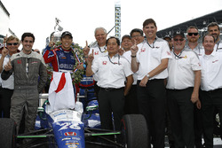Winner Takuma Sato, Andretti Autosport Honda with Art St Cyr and  HPD Honda team