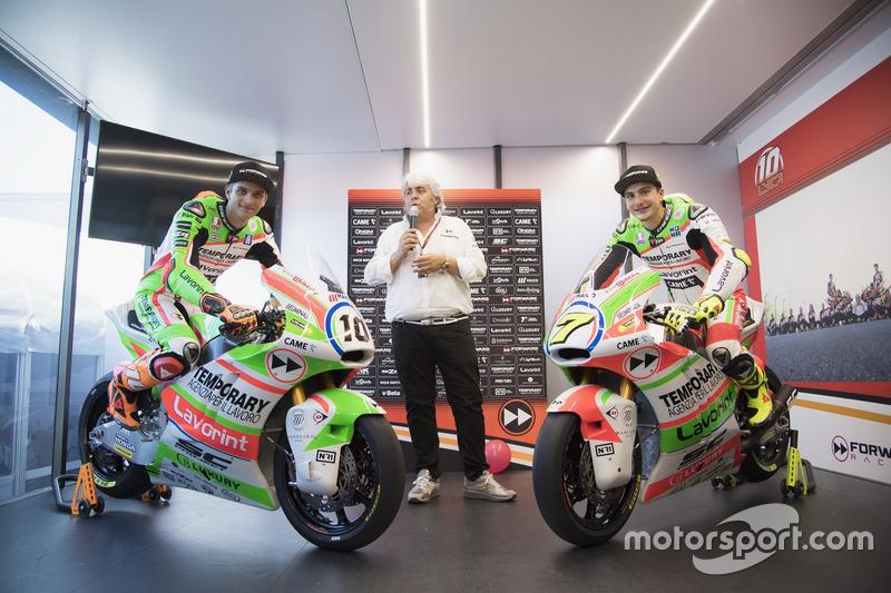 Luca Marini, Forward Racing; Lorenzo Baldassarri, Forward Racing, mit neuer Lackierung