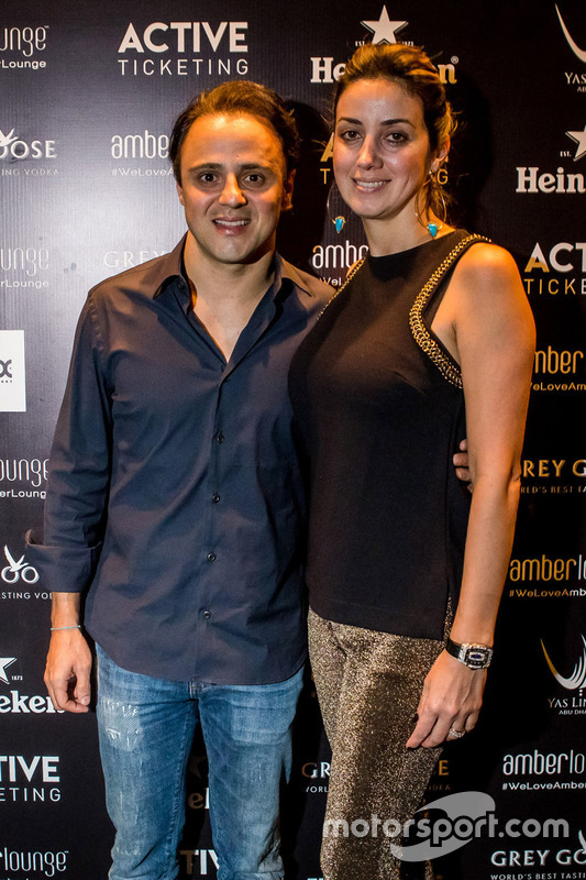 Felipe Massa, Williams F1 Team con su mujer Anna Raffaela Bassi
