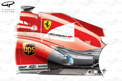Ferrari F138 exhausts design