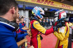 Il terzo classificato Ryan Tveter, Trident, il vincitore Giuliano Alesi, Trident