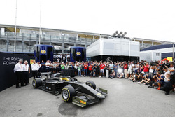 The new F2 car in the  paddock