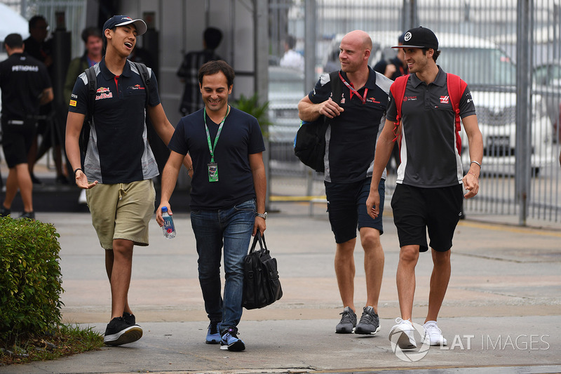 Sean Gelael, Scuderia Toro Rosso and Antonio Giovinazzi, Haas F1