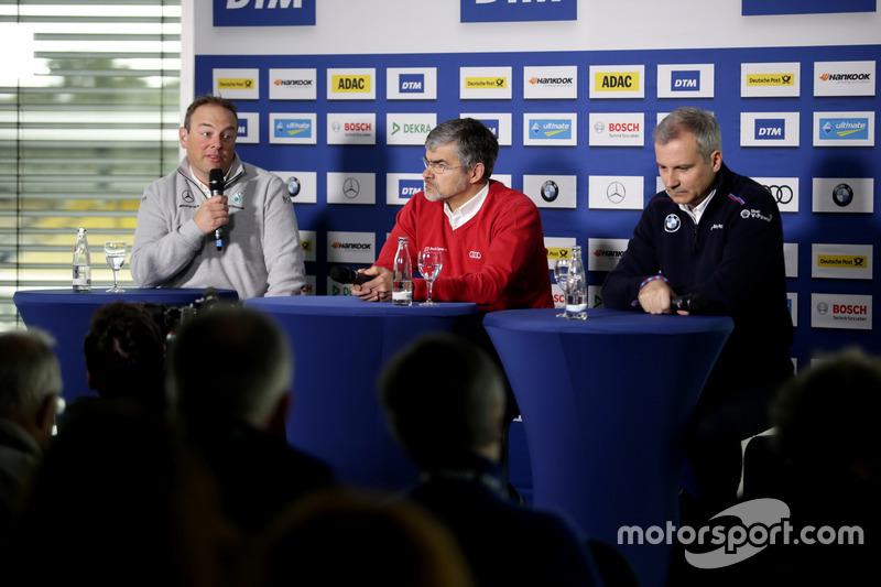 Ullrich Fritz, Mercedes-Teamchef; Dieter Gass, Audi-Sportchef; Jens Marquardt, BMW-Motorsportdirekto