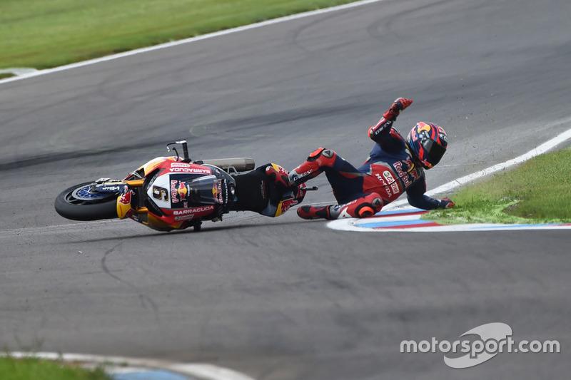 Stefan Bradl crasht in Duitsland