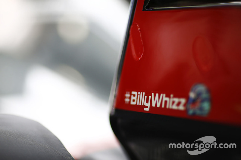 Haas F1 Team VF-17 with #BillyWhizz logo