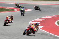 Marc Marquez, Repsol Honda Team; Dani Pedrosa, Repsol Honda Team; Valentino Rossi, Yamaha Factory Racing