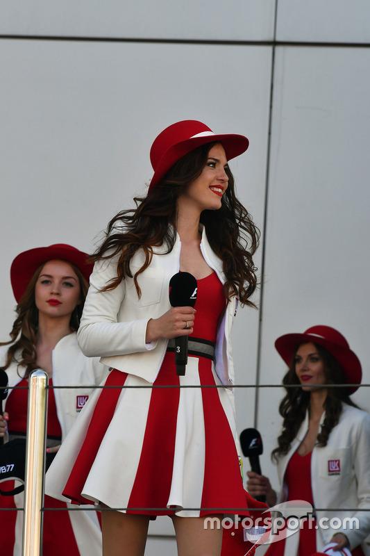 Girl on the podium