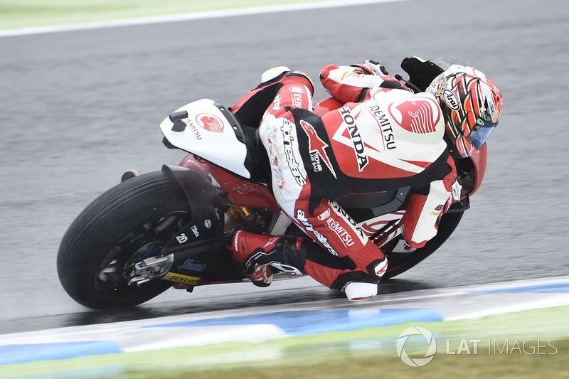Na Moto2, Takaaki Nakagami conquistou sua 1ª pole do ano e 5ª da carreira em um treino frenético. Com a ponta mudando de mãos a cada minuto pela secagem da pista, o japonês foi o último a fechar volta e ficou com a pole. Morbidelli foi mal e será só o 15º.