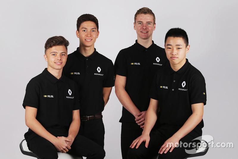 Renault Sport Academy Drivers, Jack Aitken, Max Fewtrell, Jarno Opmeer, Sun Yue Yang