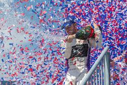Podium: winner Sam Bird, DS Virgin Racing
