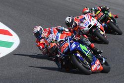 Maverick Viñales, Yamaha Factory Racing; Andrea Dovizioso, Ducati Team; Scott Redding, Pramac Racing