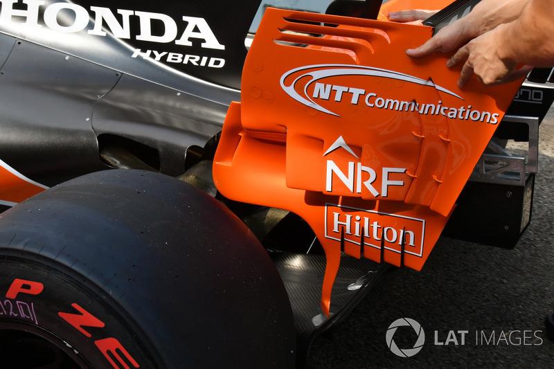 McLaren MCL32, Heckflügl, Detail