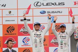 GT500 podium: second place #46 Mola Nissan GT-R: Satoshi Motoyama, Katsumasa Chiyo