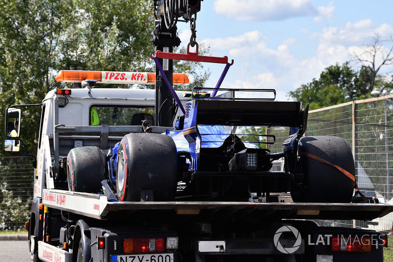 El coche chocado de Pascal Wehrlein, Sauber C36