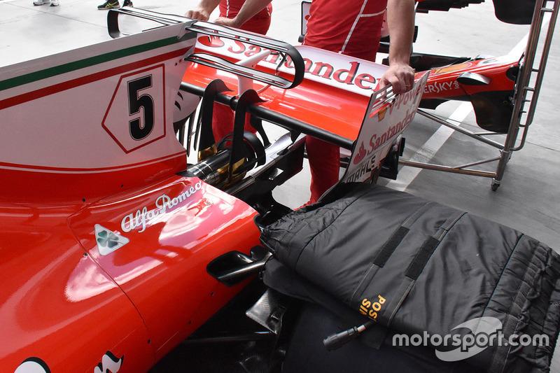 Ferrari SF70-H detalle de trasera de la carrocería