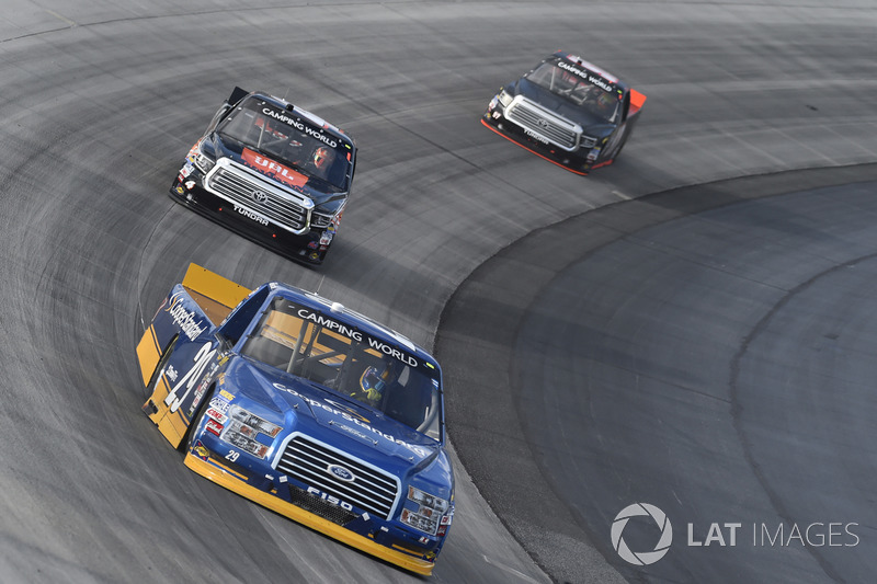 Chase Briscoe, Brad Keselowski Racing, Ford; Christopher Bell, Kyle Busch Motorsports, Toyota