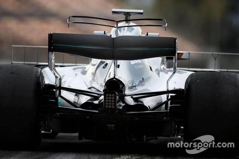 Le t-wing de la monoplace de Lewis Hamilton, Mercedes AMG F1 W08