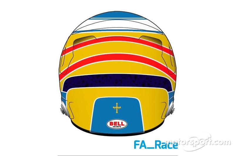 Casco de Fernando Alonso, McLaren