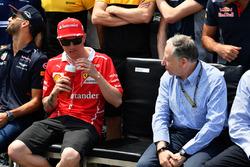 Kimi Raikkonen, Ferrari and Jean Todt, FIA President