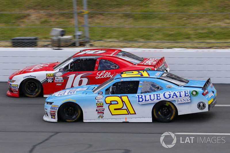 Daniel Hemric, Richard Childress Racing Chevrolet, Ryan Reed, Roush Fenway Racing Ford
