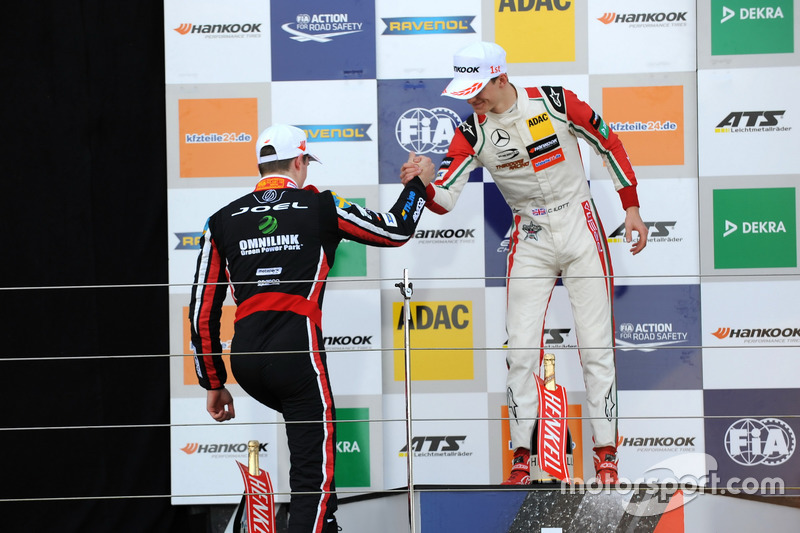 Podium: Callum Ilott, Prema Powerteam, Dallara F317 - Mercedes-Benz and Joel Eriksson, Motopark, Dallara F317 – Volkswagen