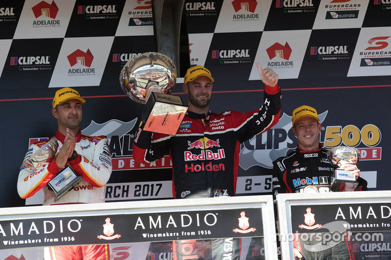 Podium: 1. Shane van Gisbergen, Triple Eight Race Engineering, Holden; 2. Fabian Coulthard, Team Penske, Ford; 3. James Courtney, Holden Racing Team