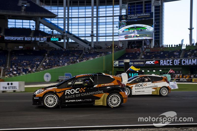 Juan Pablo Montoya, carrera de  Tom Kristensen, conduciendo el RX Supercar Lite